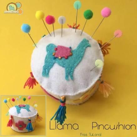 llama craft- pincushion