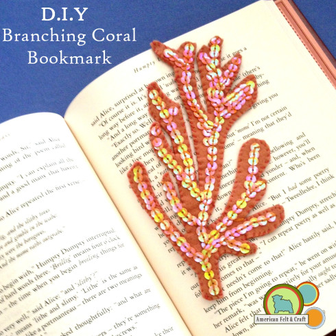DIY Felt Bookmark tutorial - branching coral
