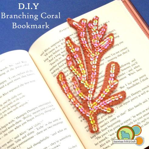 DIY Felt Bookmark tutorial - branching coral