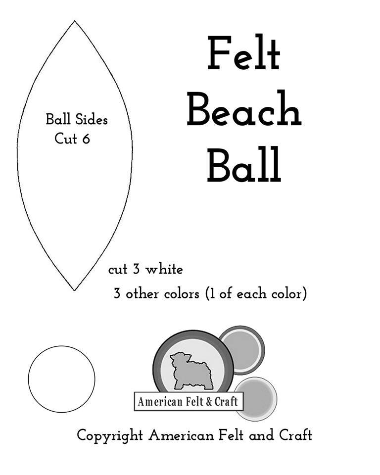felt beach ball toys american felt craft blog