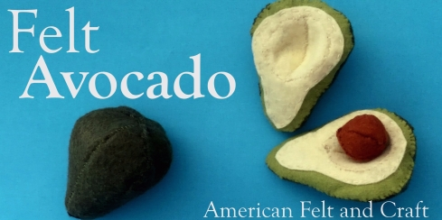 DIY Felt Avocado