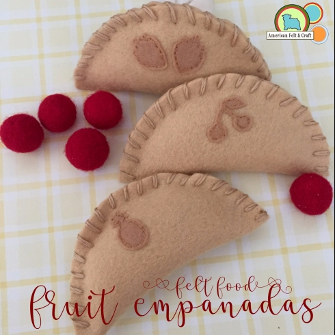 felt food pattern hand pies