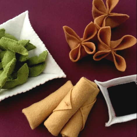 free felt food patterns- Asian