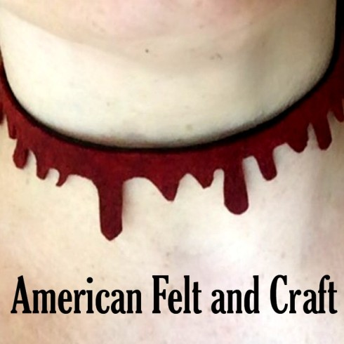 DIY Blood Choker from felt