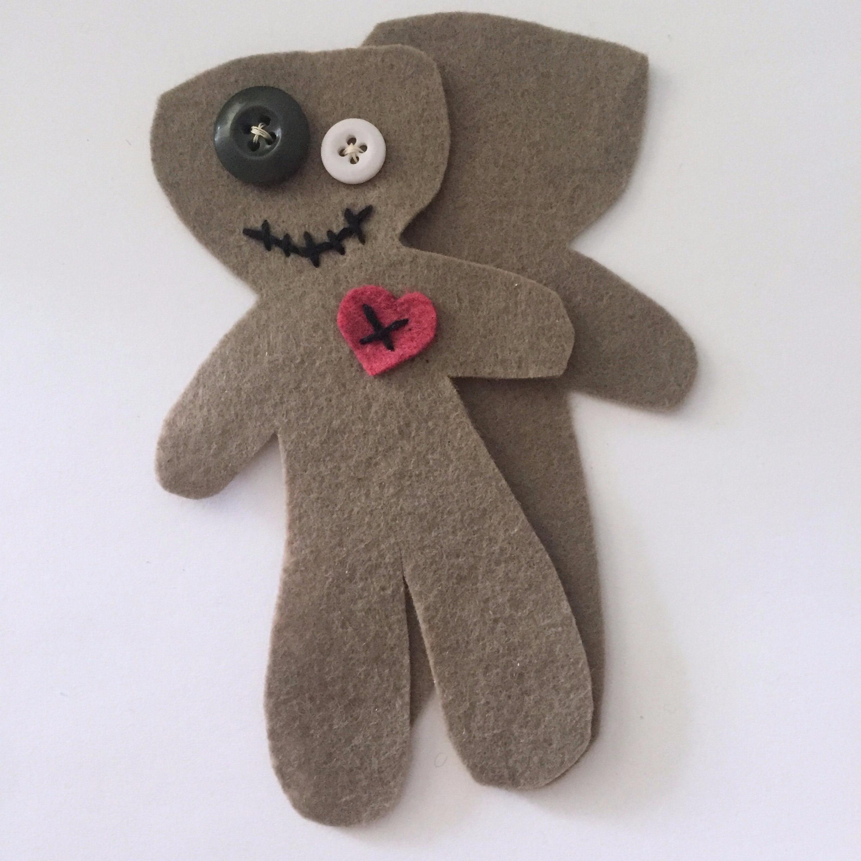 DIY voodoo doll pincushion