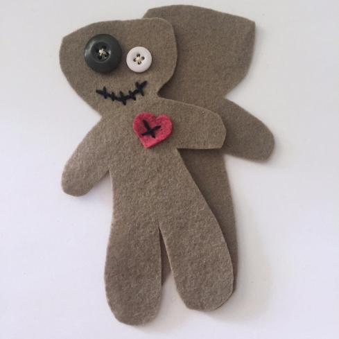 DIY voodoo doll pincushion