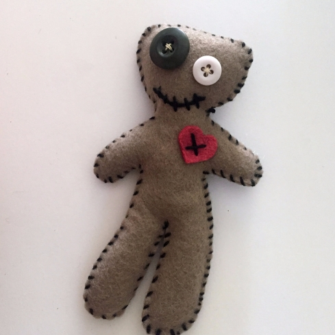 Ugly felt voodoo doll