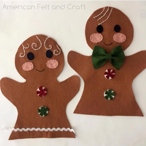 Christmas Puppets free pattern