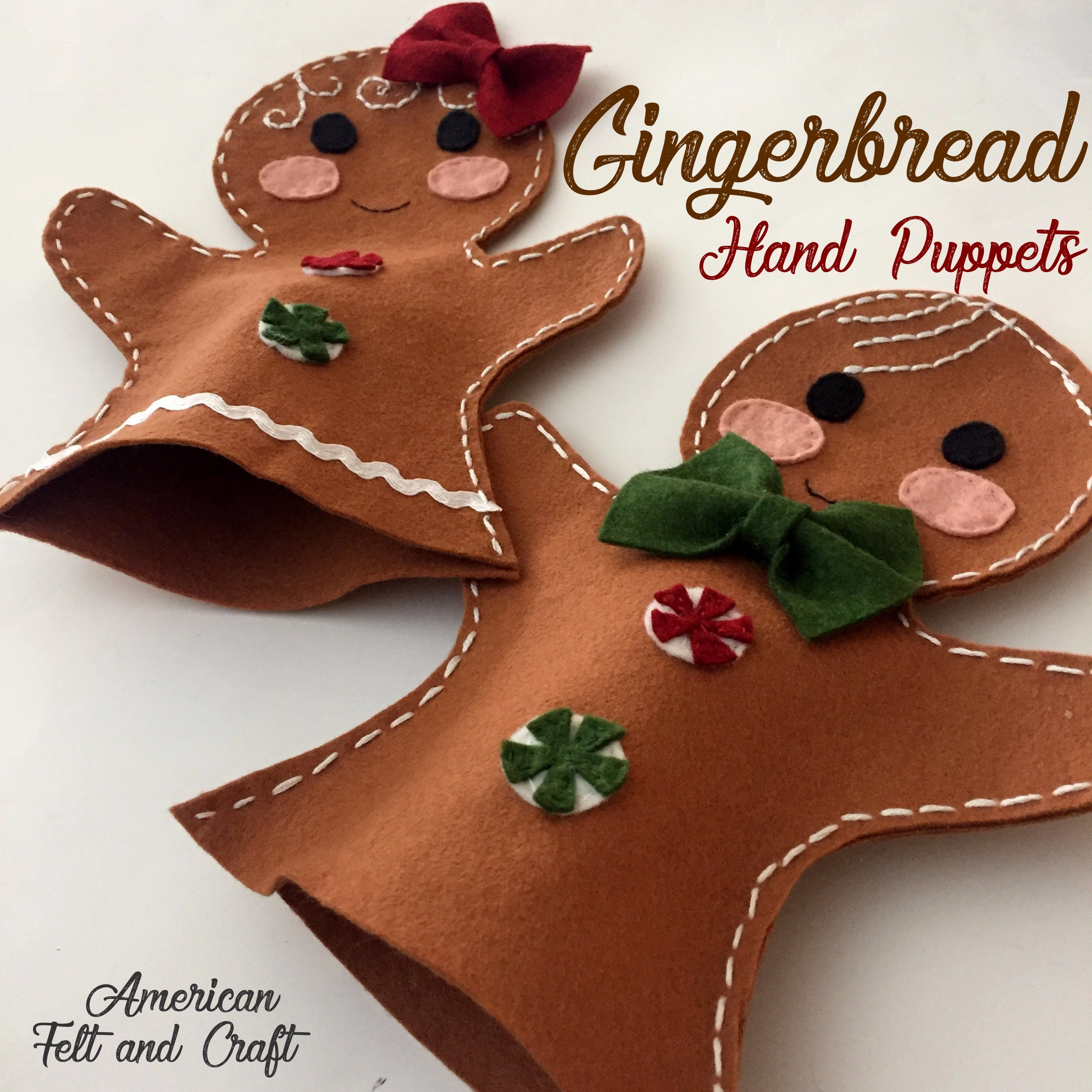 gingerbread hand puppets