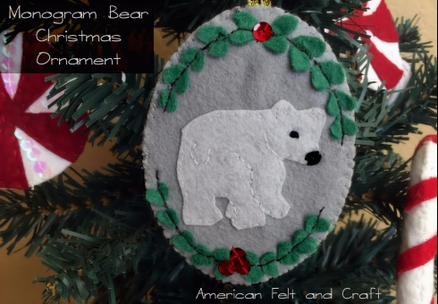 Felt Ornament Tutorial and Pattern to sew