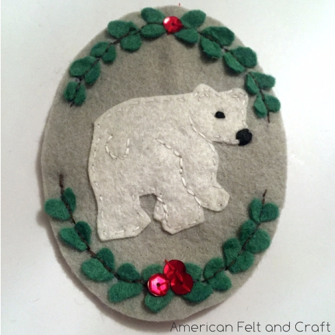 bear Christmas ornament pattern