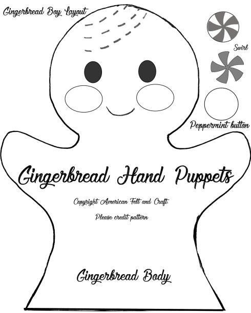 Gingerbread Hand Puppets American Felt Craft Blog New Hand Puppet Pattern