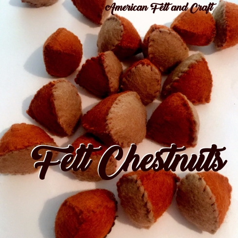 Felt Chestnut Christmas Craft