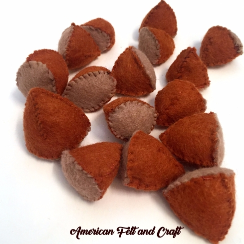 Felt Chestnuts Christmas Craft