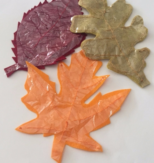 crinkle leaves felt