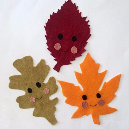 Felt leaves for kids