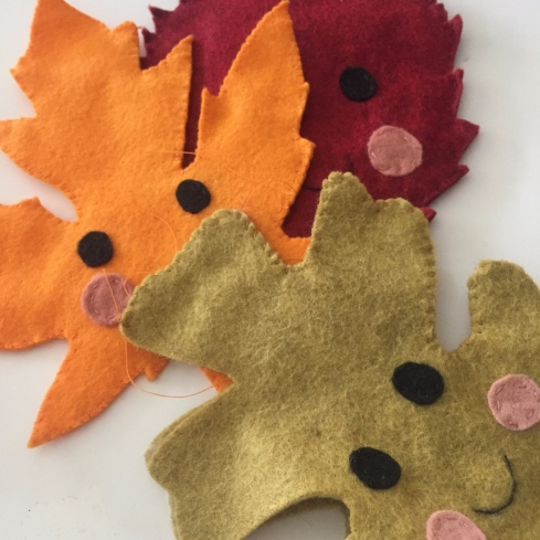 crinkling leaves tutorial and pattern