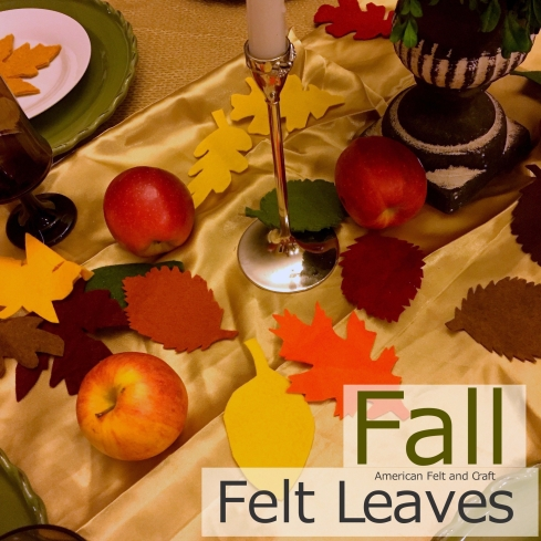 felt fall leaves