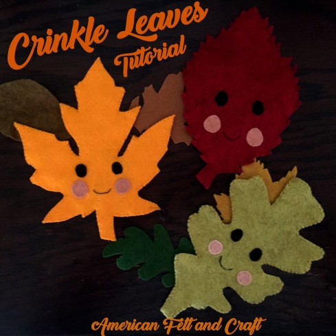 DIY crinkle leaves