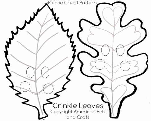 Leaf templates crinkle