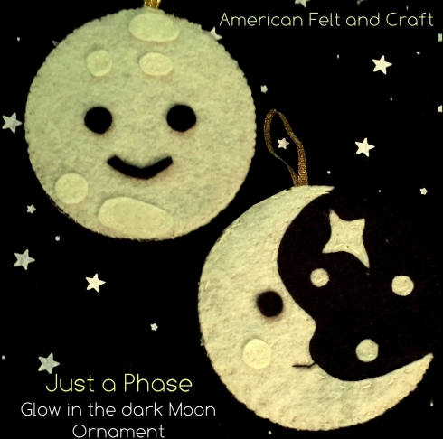 Glow in the dark felt moon