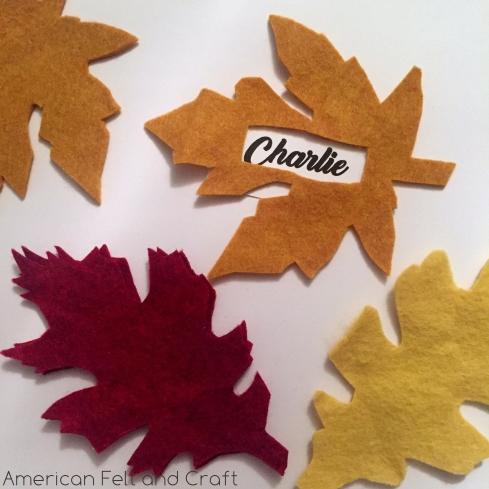 Felt Leaf Place-card settings. | ~American Felt & Craft ~ Blog