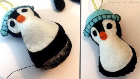 felt penguin ornament tutorial and pattern