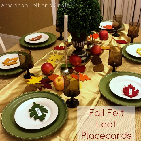 felt leaf placecards - American Felt and Craft