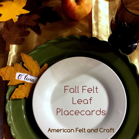felt leaf placecard - fall leaves
