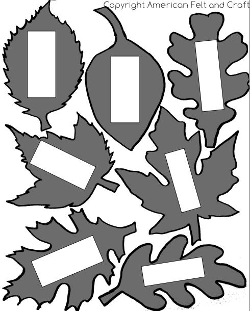 felt leaf template- name tags