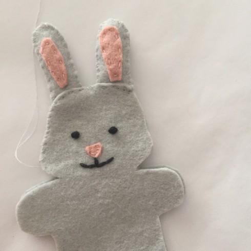 how to make a felt bunny