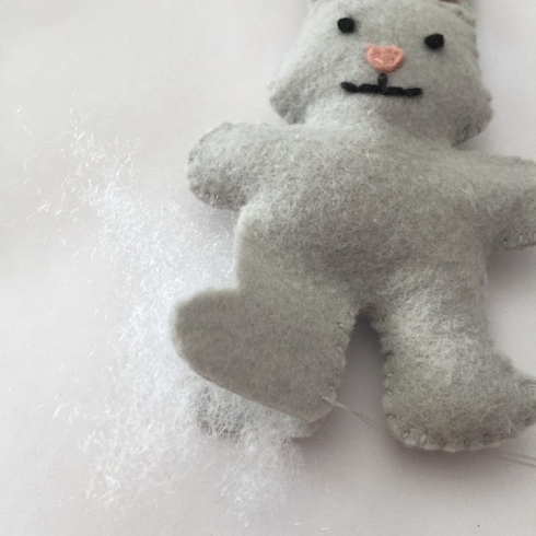Pattern for felt bunny craft