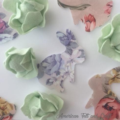 felt florals, spring cabbage