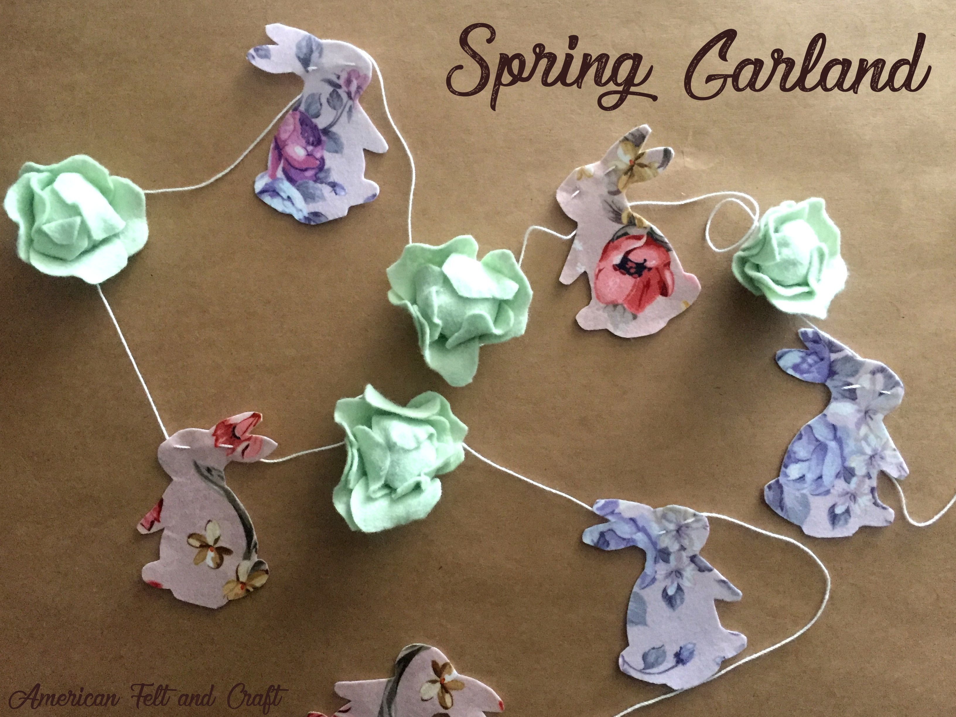 Tutorial: Felt spring bunny and cabbage garland