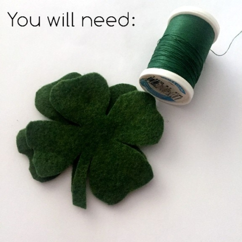 Easy felt four leaf clover