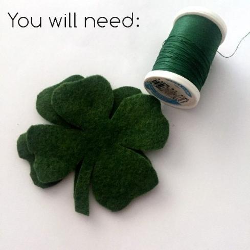 Easy felt four leaf clover
