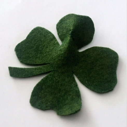 Make a four leaf clover from felt