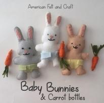 baby bunnies from felt