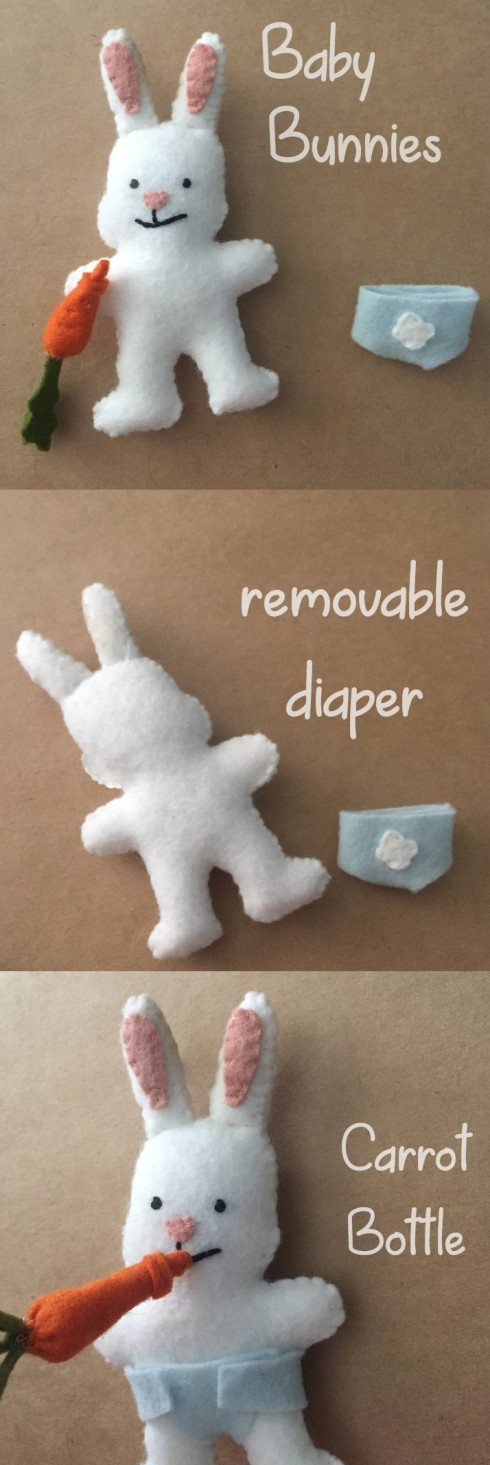 Felt baby bunny pattern and tutorial free pattern craft