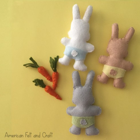 free felt patterns and tutorials, felt bunnies