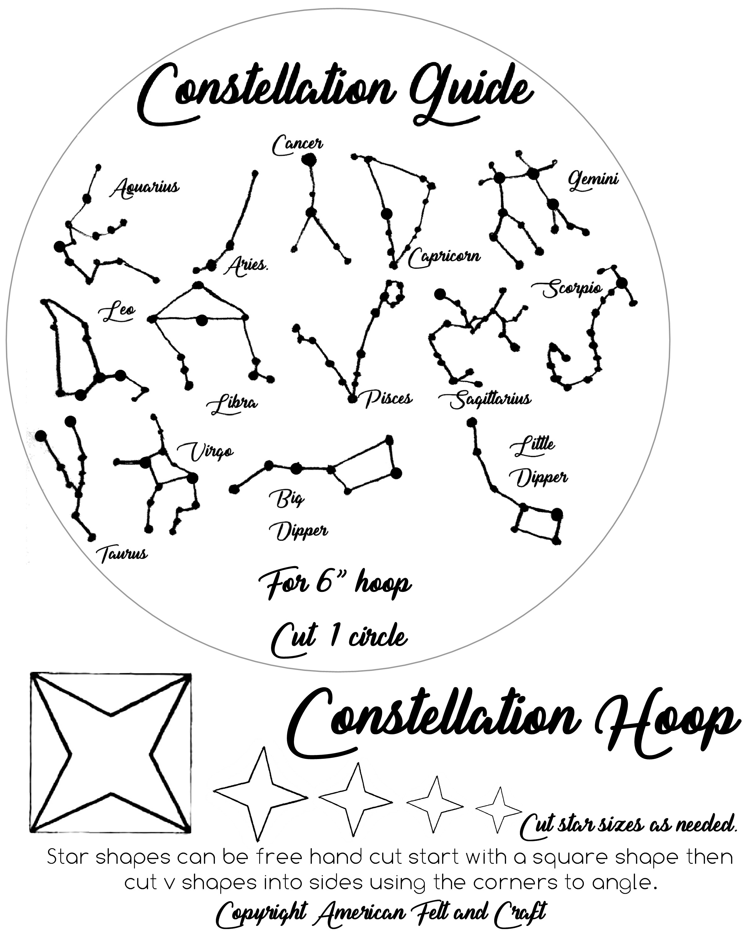 It is a photo of Enterprising Constellation Patterns Printable