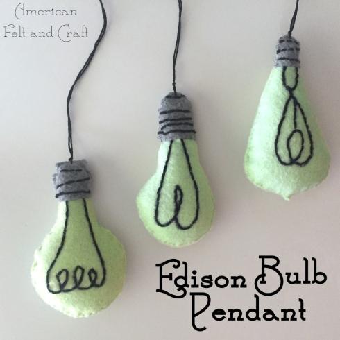 edison bulb pattern felt
