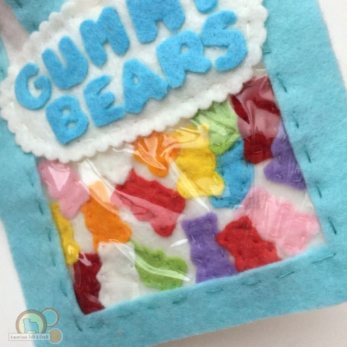 felt food candy gummy bears