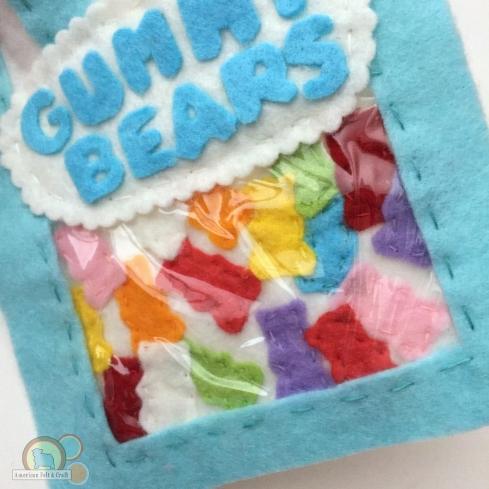 felt food candy gummy bears