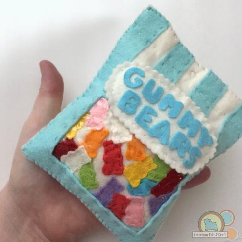 felt food candy gummy bears free tutorial