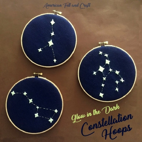 Glow in the dark constellation hoops
