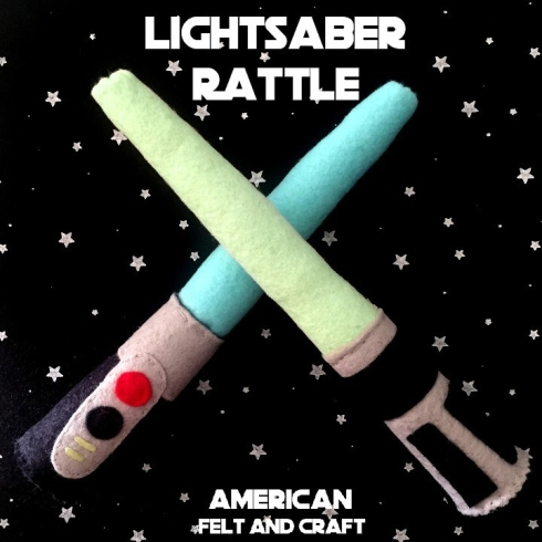 Felt Star Wars baby rattle