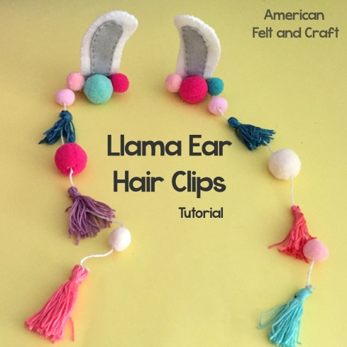 Llama costume hair clips