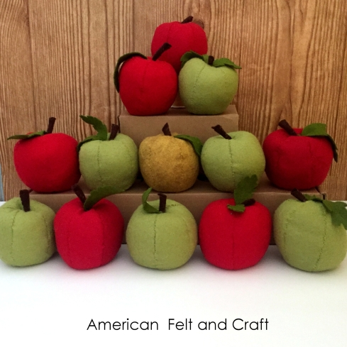 Making felt food apples