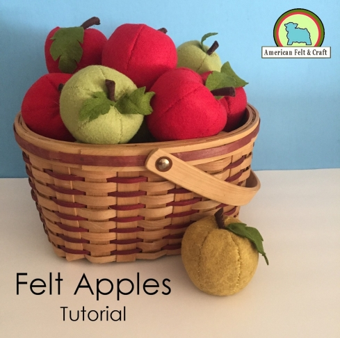 Tutorial for felt food apples